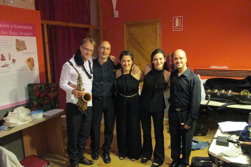 Tras el estreno de mis bagatelas en Alcosax, junto al duo Zavasax, Arno y Tere Gomez.JPG